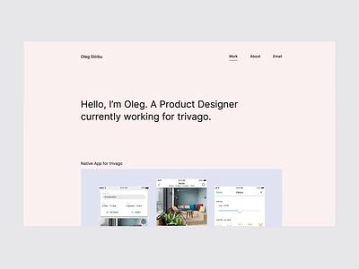 Portfolio 2019 product webdesign modern clean minimal video motion website interaction animation portfolio web travel ux ui