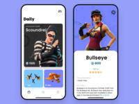 Game Daily Items sketch items skin gaming transition mobile prototype fortnite videogame game video ux ui figma ios interaction interface design app