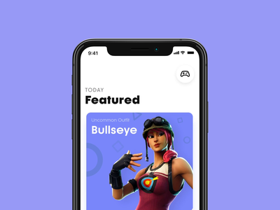Game Item Details gaming transition prototype fortnite game principle ux ui figma ios interface design app animation after effects