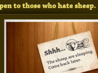 The sheep are sleeping.
