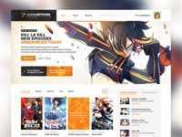 Anime Website Concept