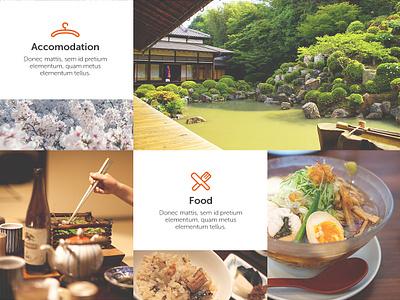 Japan Travel Concept design web flat interface uiux ui ux website travel japan homepage