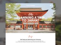 Japan Travel Concept