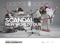 Scandal Website Concept