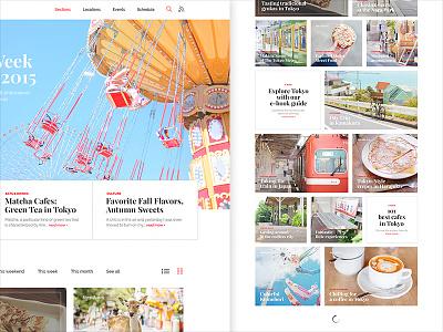 Tokyo Cheapo Redesign Concept tokyo japan ux flat ui web redesign concept design website