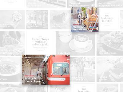 Tokyo Explorer redesign concept ux web ui japan website flat design