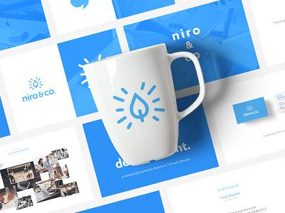 Branding proposal guidelines mockup blue clean minimal design brand branding
