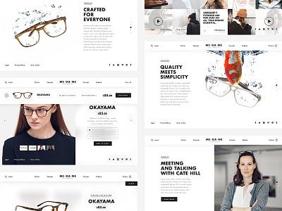 Megane Eyewear shop ecommerce eyewear site website animation ux ui web webdesign