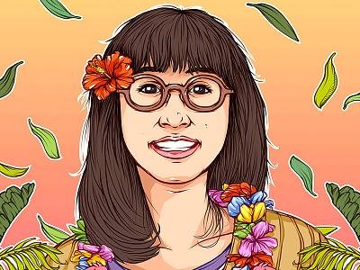E Komo Mai! color artwork digital hawaii sketch design poster illustration