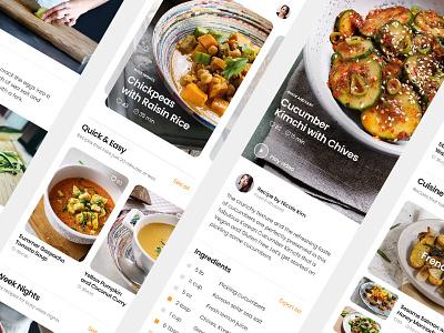 Recipes mobile minimal ux ui screen design food recipes ios iphone app