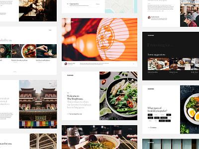 Singapore Food Guide - Updates design ux ui editorial website web travel singapore simple minimal interaction guide food desktop clean