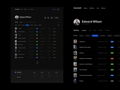 Gameshelf - Profile/Library List View