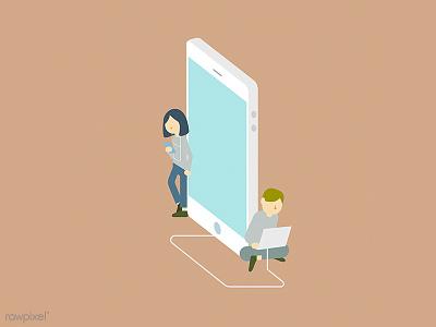 Social addicted illustration vector