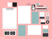 Cutie stationary set - Pink
