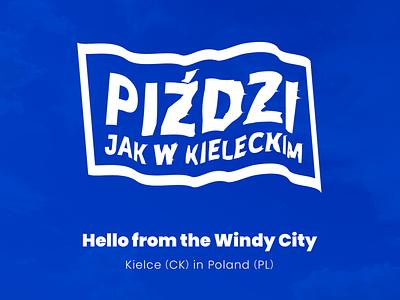 Hello from the Windy City! branding city logo