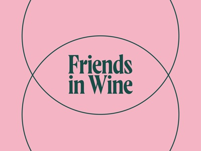 Friends in Wine Identity vector branding logotype logo tyopgraphy type design 2d animation