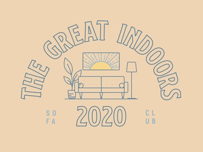 The Great Indoors type typography branding illustration design vector 2d