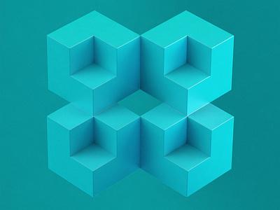 GeometricStudy No 05 cinema 4d illustration 3d design