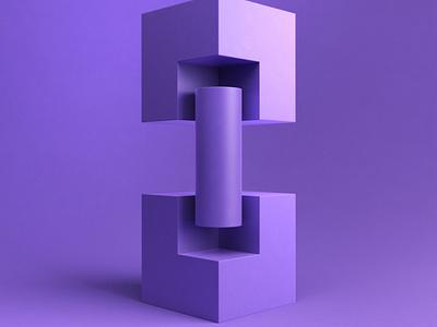 GeometricStudy No 06 cinema 4d illustration 3d design