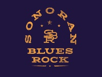 Sonoran Blues Rock Logo Crest