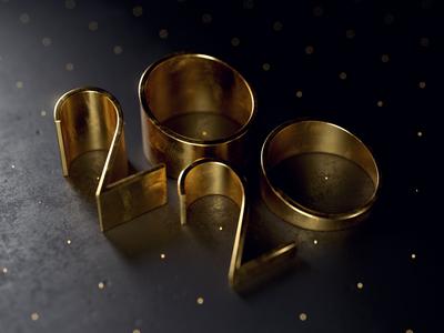 2020 texture photoshop cinema4d cg 3d brass metal metallic