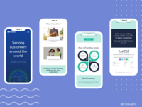 Responsive web design (mobile view)
