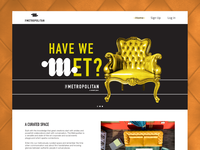 The Metropolitan website design