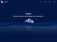 Bluewalrus - 404 page
