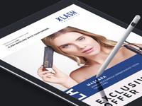 XLASH Cosmetics email design