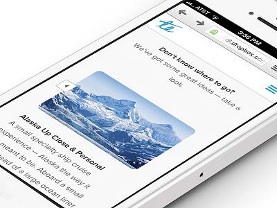 Responsive Services Screen responsive web design website travel experience slider carousel mobile desktop clean ui