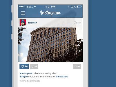 Instagram Flat instagram flat photos filters ios mobile apple ui ux blur