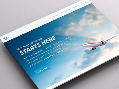 The Travel Experience travel experience site web design ui ux vacation responsive