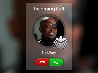 Incoming Call phone call nick fury avengers incoming shield user interface