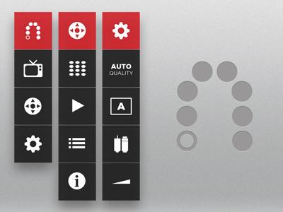 Slingbox Menu red slingbox menu ui user interface mobile ipad tablet entertainment app