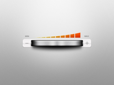 Dial dial control ui volume adjust stereo gray