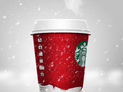 Coffee coffee starbucks winter warm snow red photoshop