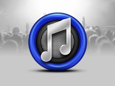 iTunes itunes icon music blue apple mac speaker tunes