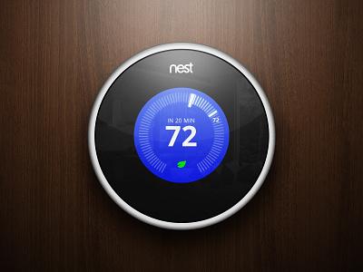 Nest nest thermostat design photoshop wood bored control