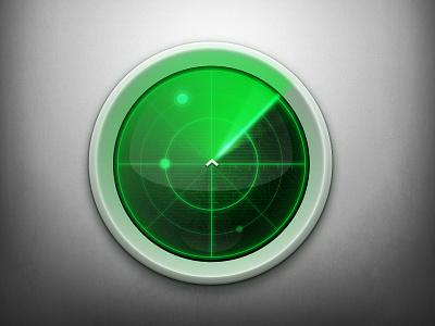 Radar radar ping search green gray