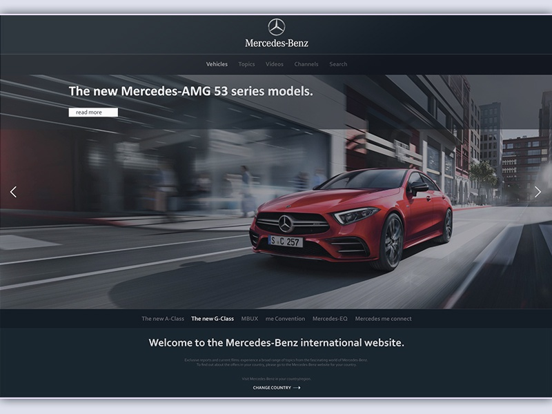 Website concept for mercedes benz dribbble website for Mercedes benz official site