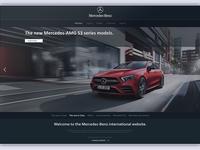 Website Concept for Mercedes Benz