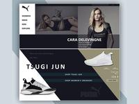 Website Concept for Puma