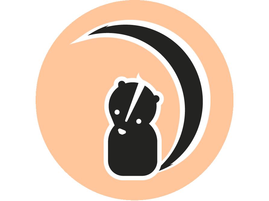 Skunk simple illustration design cute illustration skunk