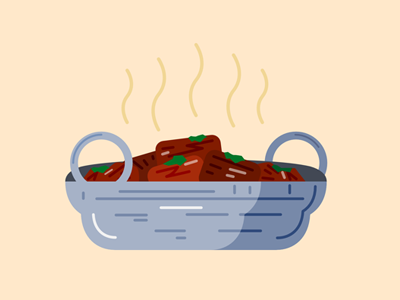 red hot curry pot vector food curry illustration