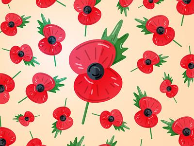 Poppy illustration vector armistice day lest we forget