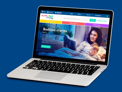 ReadMeABookEveryday ux ui web parenting parents subscription store platform online books kids bookstore