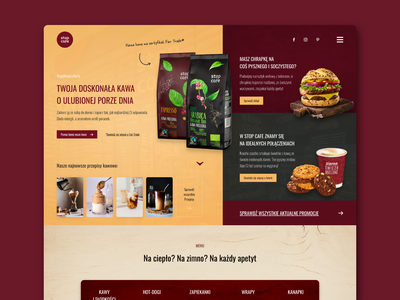 Stop Cafe Website Concept page flat website header menu burger coffee modern food redesign design ux ui web design web