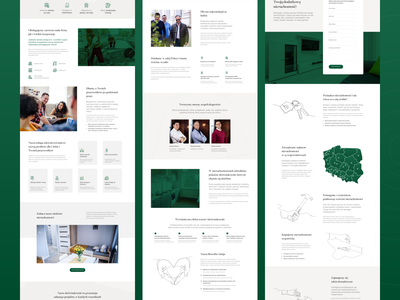 Rent Estate 3 Subpages services photos estate real industry benefits about team sections tiles contact form flat design logo ui subpage web ux website