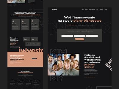 Innvesto Website Hero finance invest page benefits cta about services hero home website flat ui ux modern logo design web