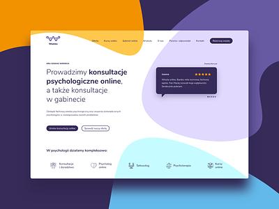 Wamka Website Redesign - WIP modern flat web branding shapes navigation desktop headline header psychology services reference hero page home ui design website ux
